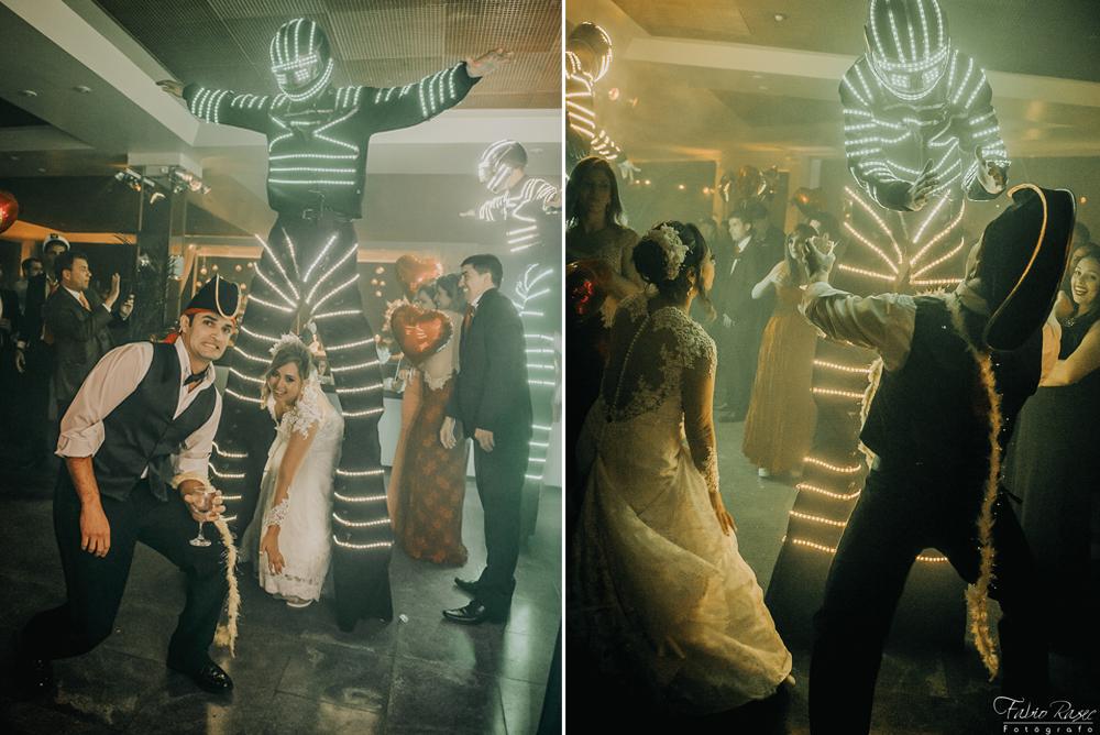 25 Robo de Led Para Casamento, Robô de Led Para Casamento, Robô em Casamento, Robozão em Casamento